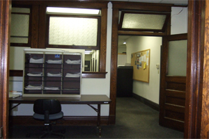Inside of Tucker's office