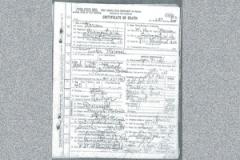 Tucker's death certificate