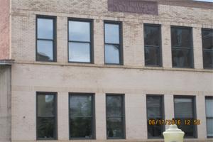 Tucker's office windows